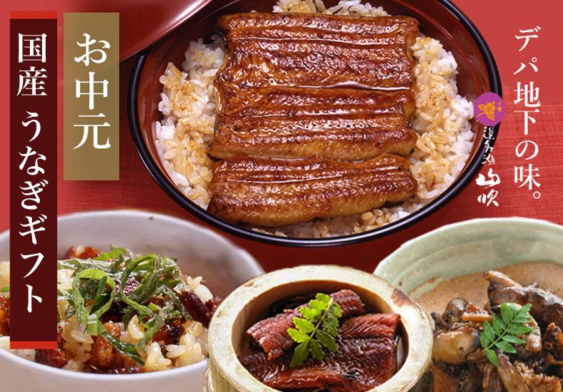 お中元ギフト 国産うなぎの蒲焼き、佃煮、きも焼き、うなつくし、山椒煮